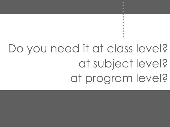 Do you need it at class level?