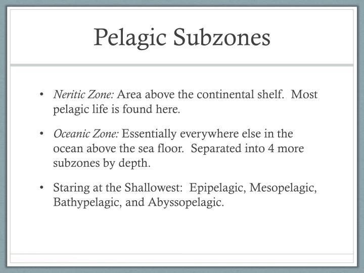 Pelagic Subzones