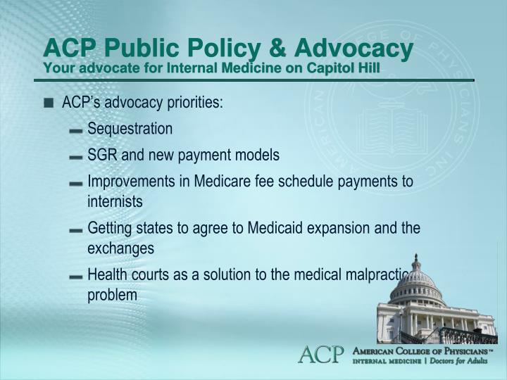 ACP Public Policy & Advocacy