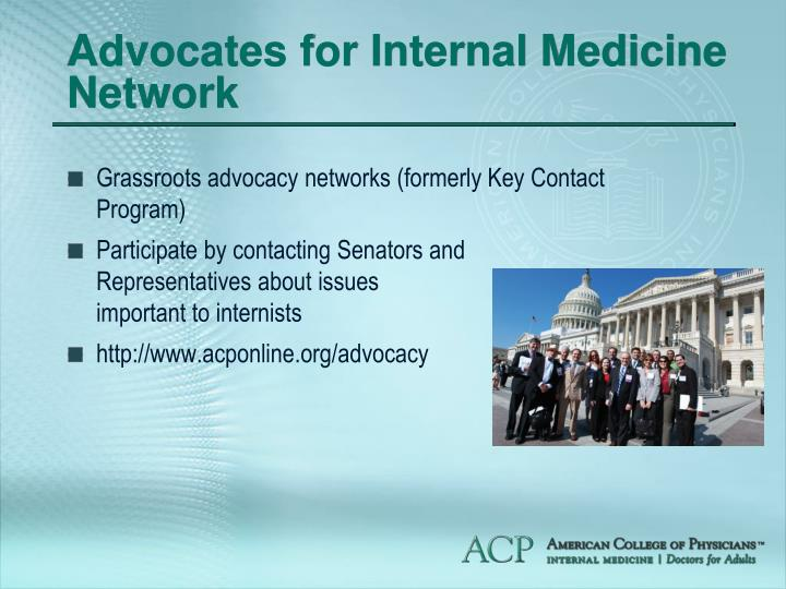 Advocates for Internal Medicine Network