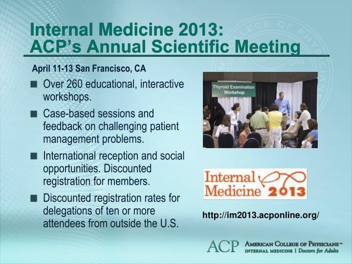 Internal Medicine 2013: