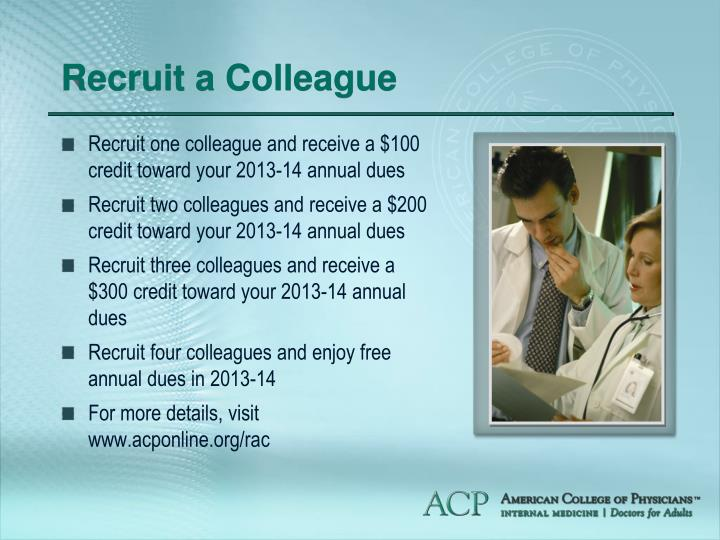 Recruit a Colleague