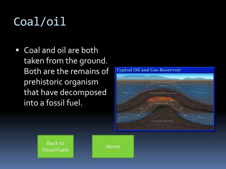 Coal/oil