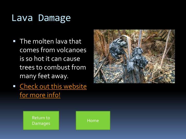 Lava Damage