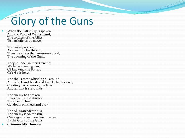 Glory of the Guns
