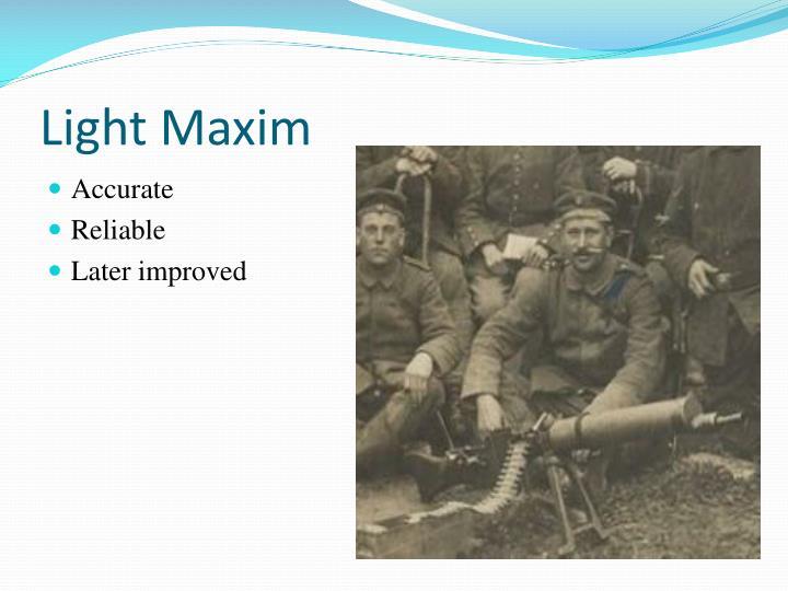 Light Maxim