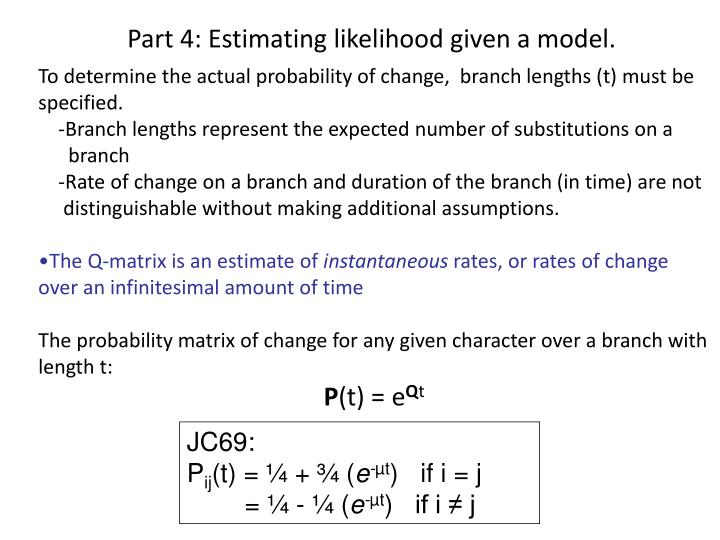 Part 4: Estimating