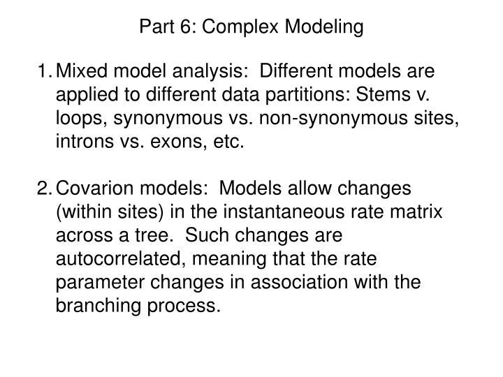 Part 6: Complex