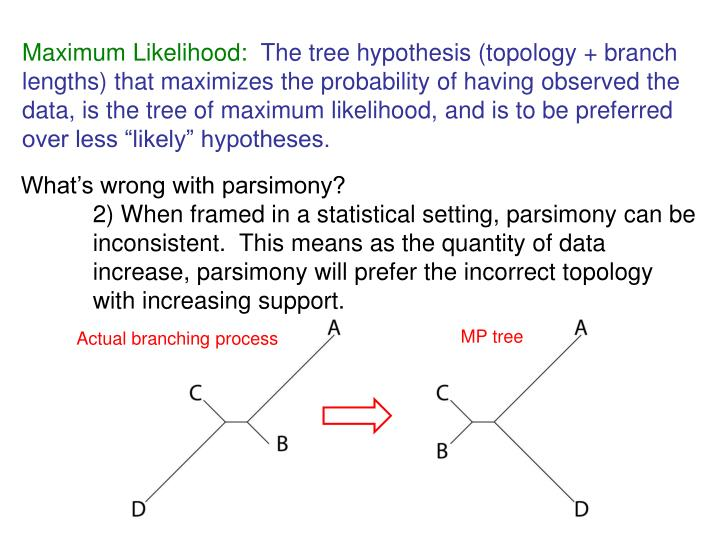 Maximum Likelihood: