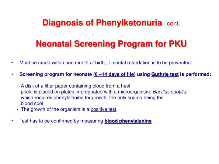 Diagnosis of
