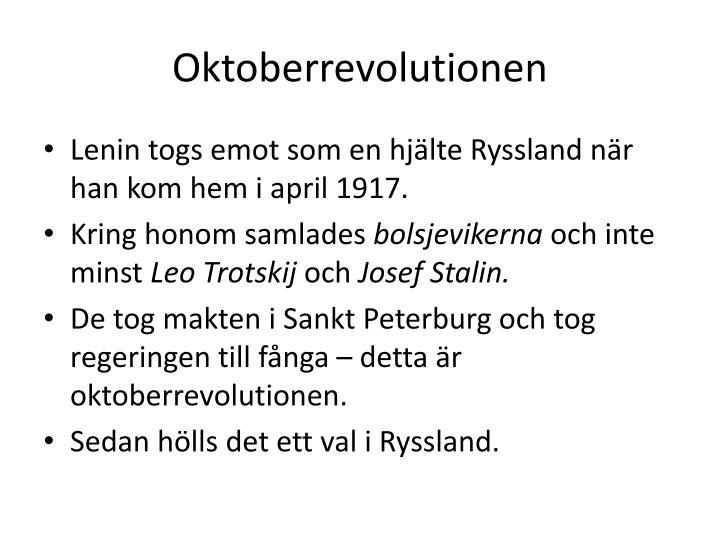 Oktoberrevolutionen