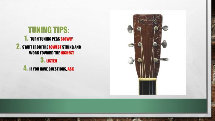 Tuning Tips: