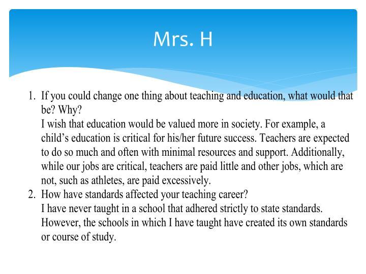Mrs. H