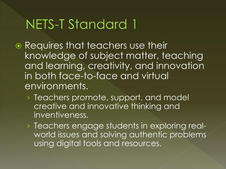NETS-T Standard 1