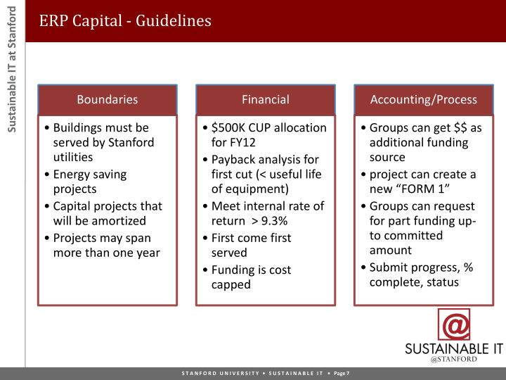 ERP Capital - Guidelines