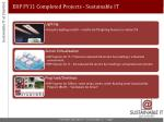 erp fy11 completed projects sustainable it