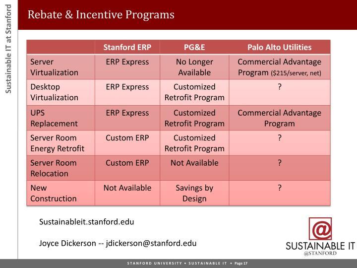 Rebate & Incentive Programs