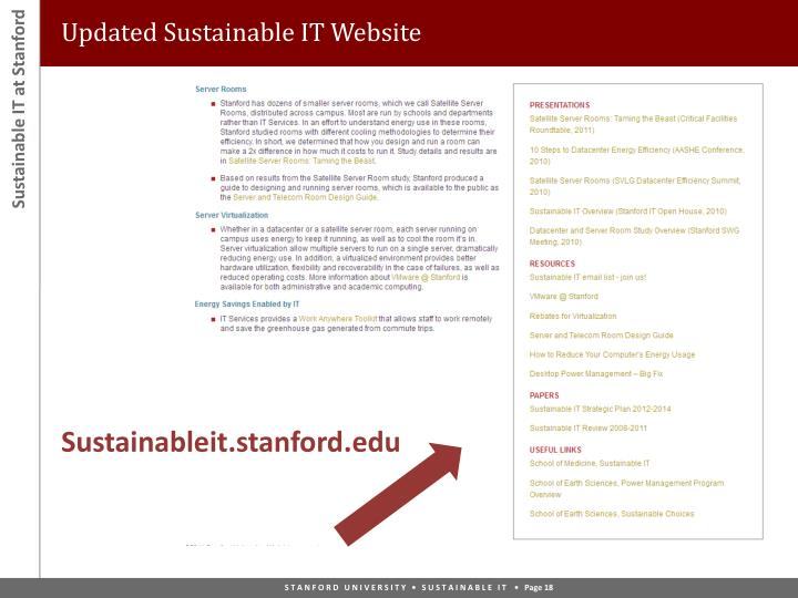Updated Sustainable IT Website