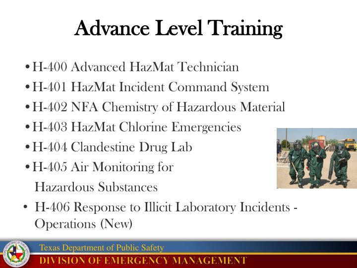 Advance Level Training