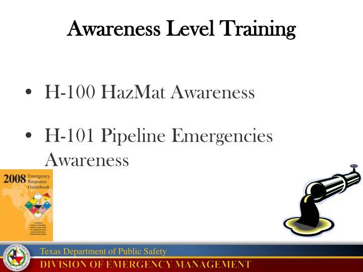 Awareness Level Training