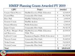 hmep planning grants awarded fy 2009