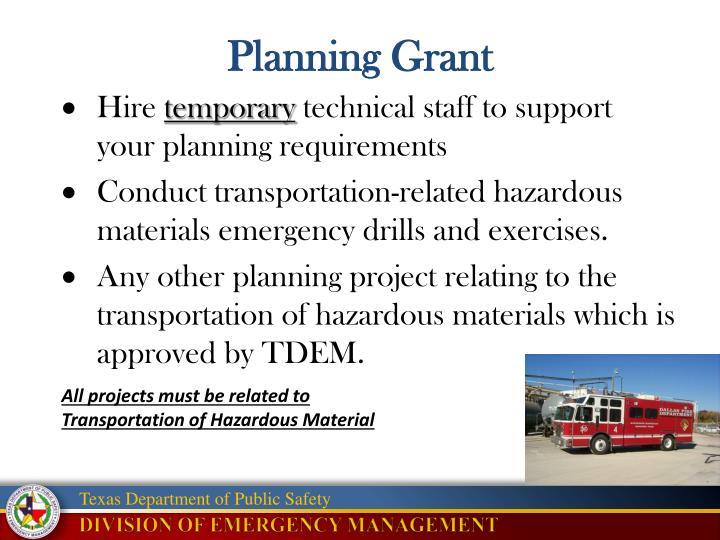 Planning Grant