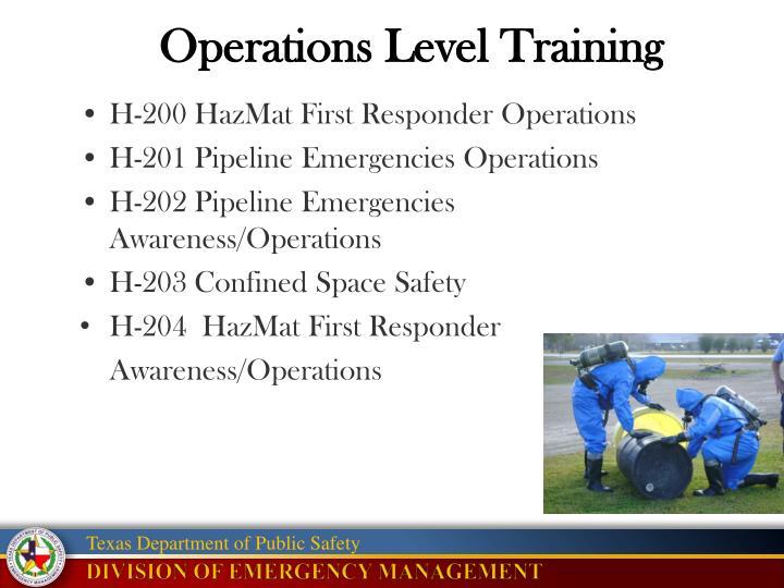 Operations Level Training