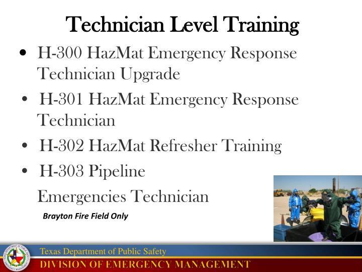 Technician Level Training