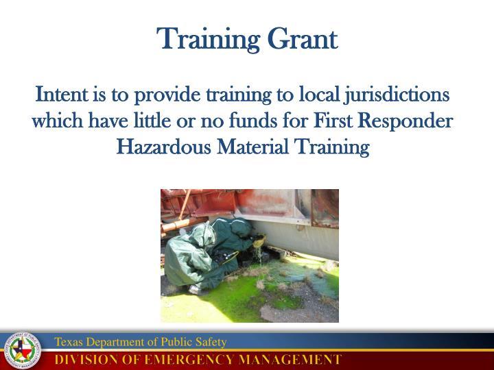 Training Grant
