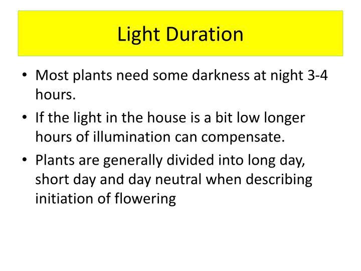 Light Duration