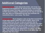 additional categories