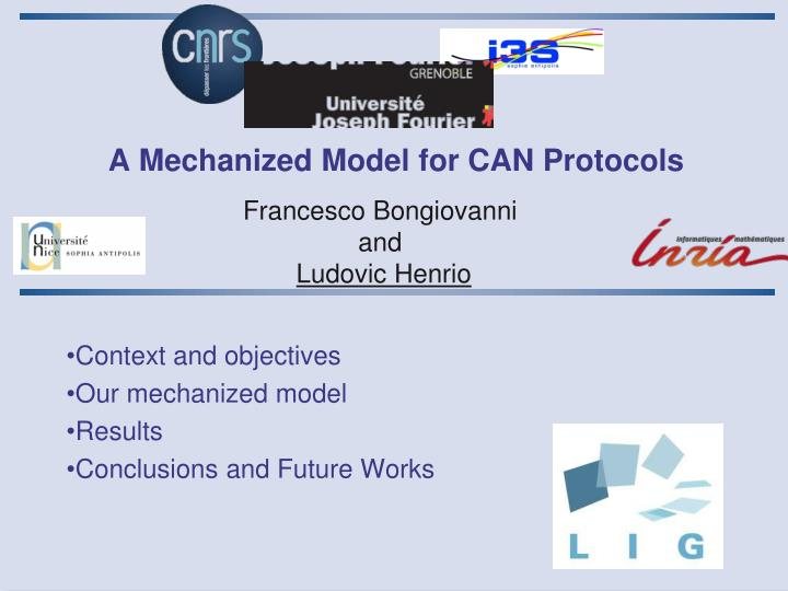 A mechanized model for can protocols