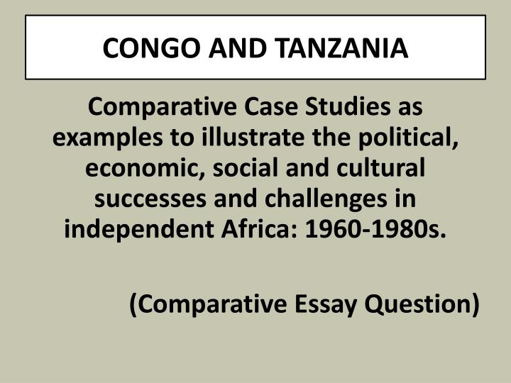 CONGO AND TANZANIA