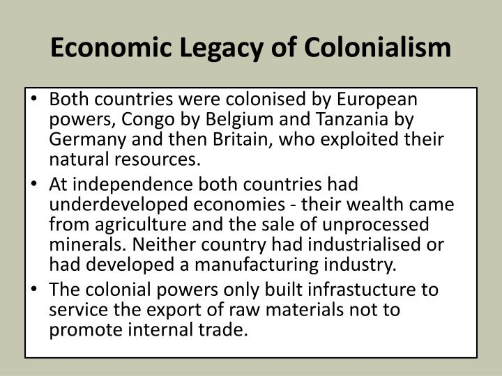 Economic Legacy of Colonialism