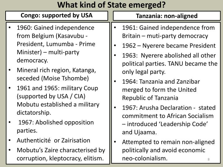 What kind of State emerged?