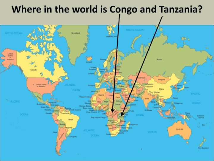 Where in the world is Congo and Tanzania?