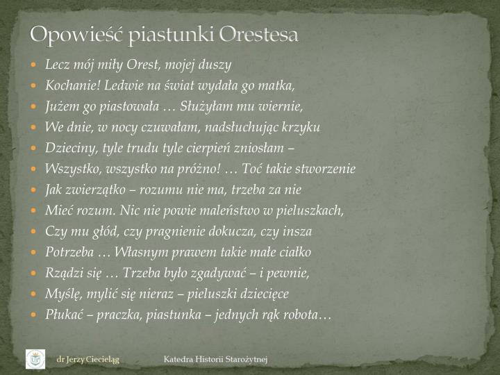 Opowieść piastunki Orestesa