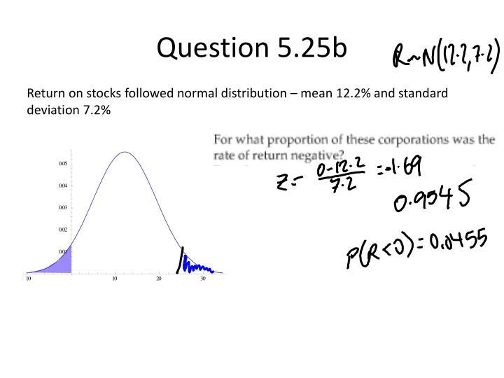 Question 5.25b