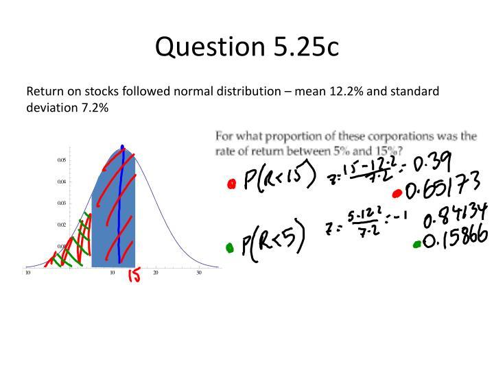 Question 5.25c