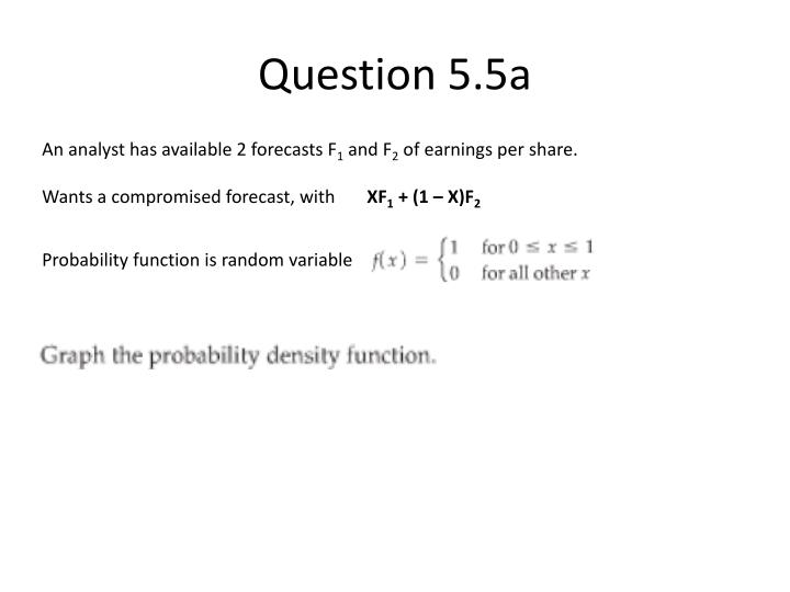 Question 5 5a