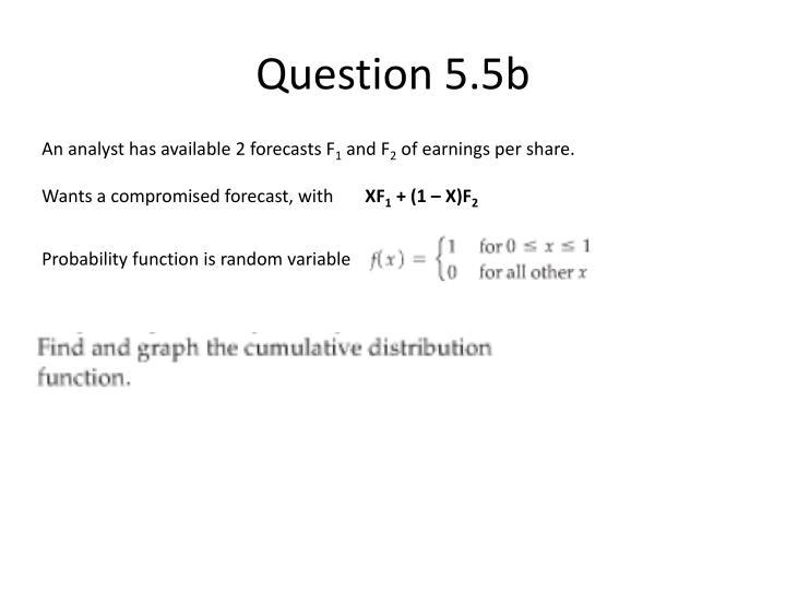 Question 5.5b