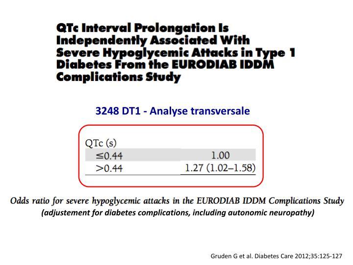3248 DT1 - Analyse transversale