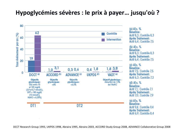 Hypoglycémies sévères : le prix à payer… jusqu'où ?