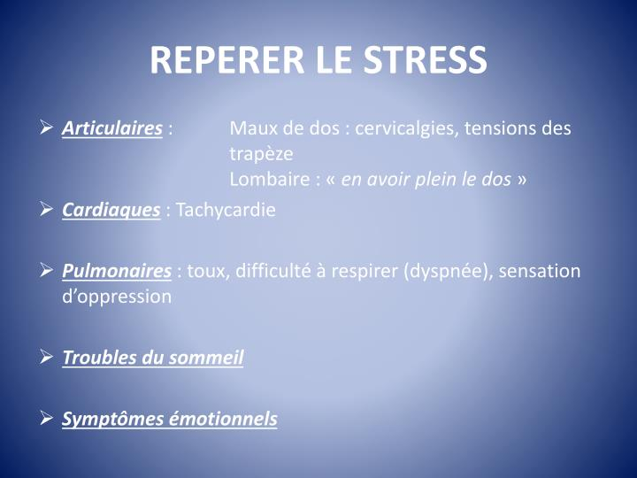 REPERER LE STRESS