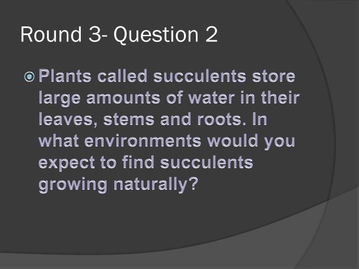 Round 3- Question 2