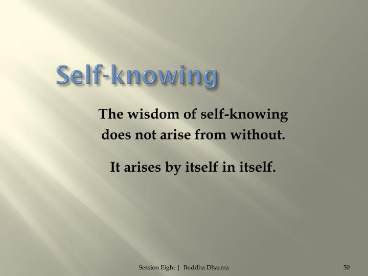 Self-knowing