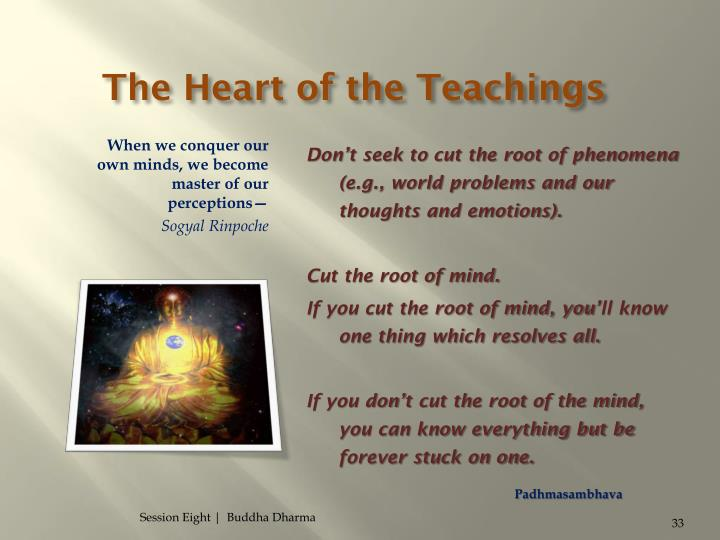 The Heart of the Teachings