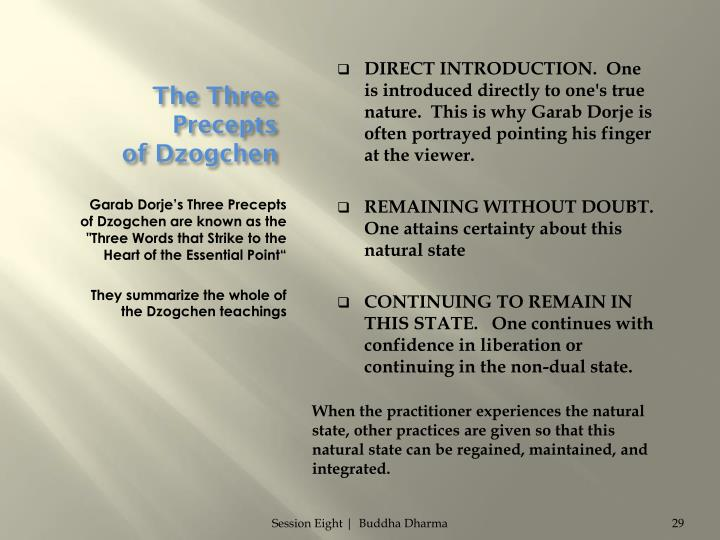 The Three Precepts                of