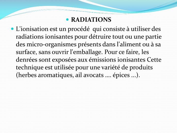 RADIATIONS