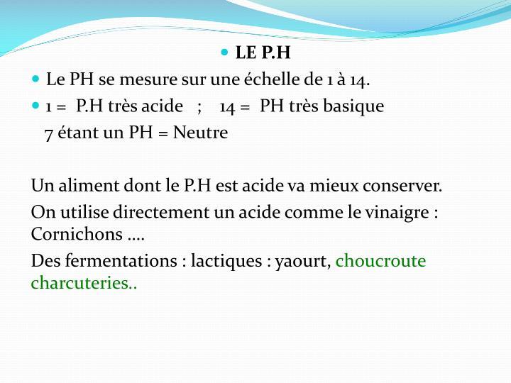 LE P.H